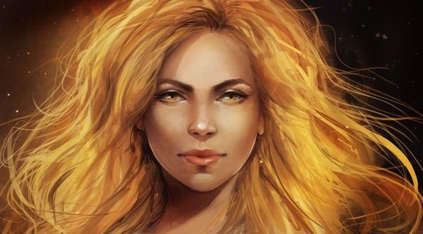 Обои Девушка с солнечным цветом волос, by IndI-Art