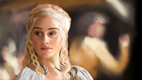 Обои Daenerys Targaryen / Дейнерис Таргариен из сериала Game Of Trones / Игра Престолов, by anoncorner