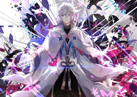 Обои Merlin / Мерлин из онлайн RPG игры Fate Grand Order / Судьба: Великий Приказ