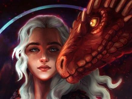 Обои Daenerys Targaryen / Дейнерис Таргариен из сериала Game Of Trones / Игра Престолов, by RocioRodriguez