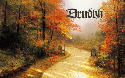 Обои Дорожка идущая через осенний лес (Drudkh - украинская музыкальная группа), художник Thomas Kinkade
