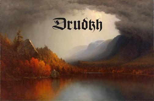 Обои Озеро в осенней долине (Drudkh - украинская музыкальная группа), художник Sanford Robinson Gifford