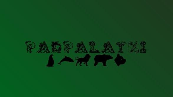 Обои Фраза Padpalatki, под которой изображены различные животные