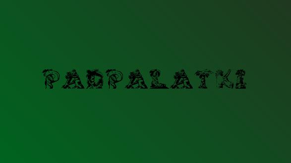 Обои Фраза Padpalatki на зеленом фоне