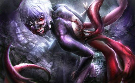 Обои Ken Kaneki / Кен Канеки из аниме Tokyo Ghoul / Токийский Гуль, by Sangrde