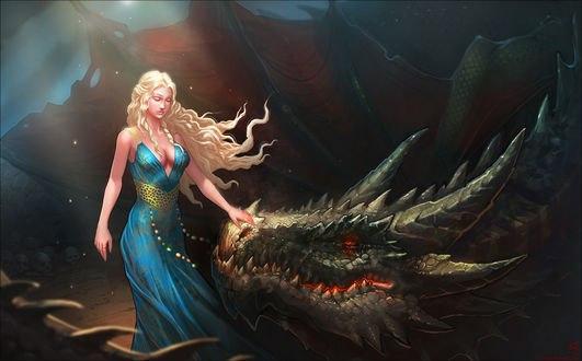 Обои Daenerys Targaryen / Дейнерис Таргариен из сериала Game Of Trones / Игра Престолов, by Shinsen