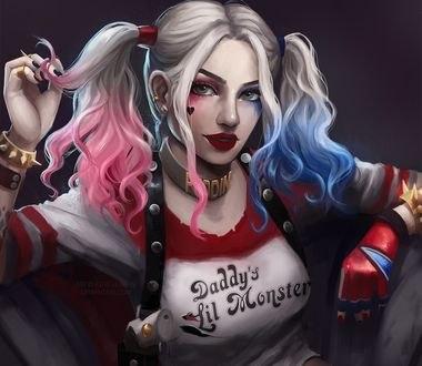 Обои Harley Quinn / Харли Квинн из фильма Suicide Squad / Отряд самоубийц с битой, by Astri-Lohne