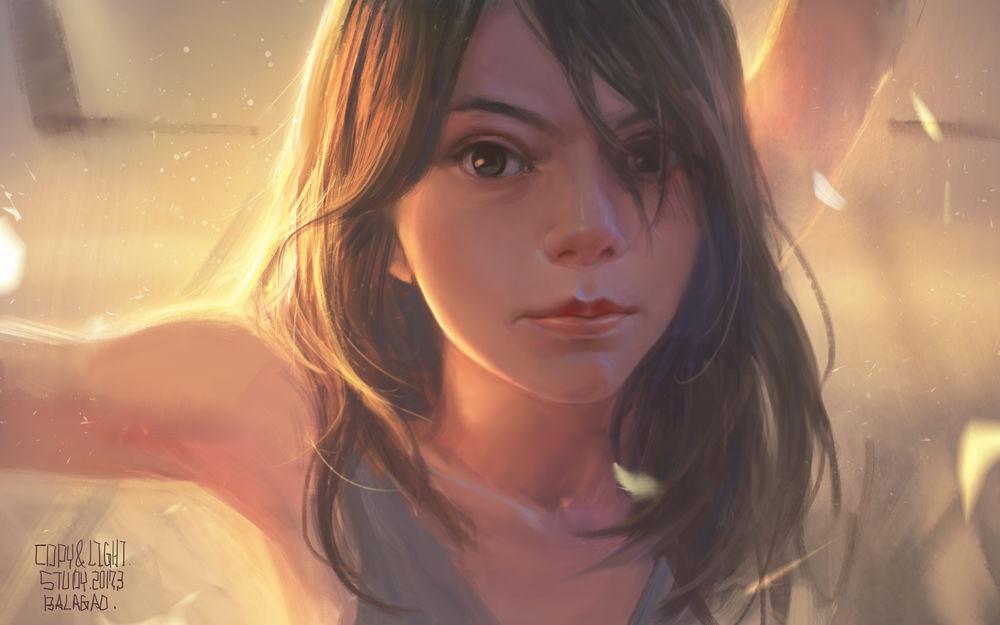 Обои для рабочего стола Портрет девушки, by a70172219