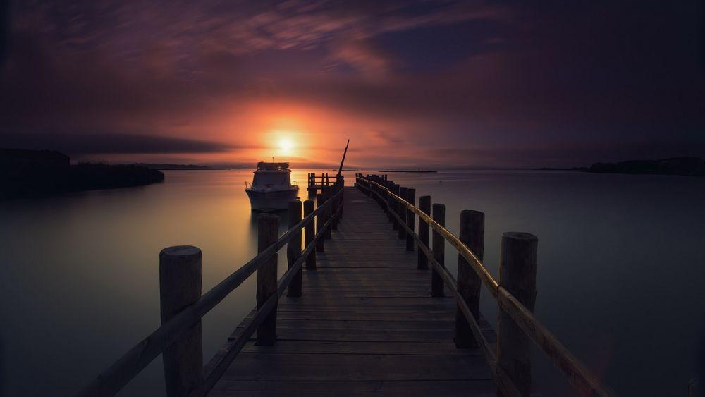 Обои для рабочего стола Восход солнца в Mourisca / Муриске, Италия, фотограф Joao Pedro Santos