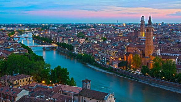 Обои Город Верона / Verona, Италия / Italy