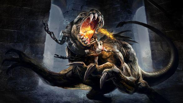 Обои Момент из игры God of War: Chains of Olympus