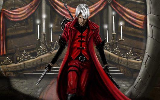 Обои Полудемон Данте / Dante, персонаж из игры Devil May Cry