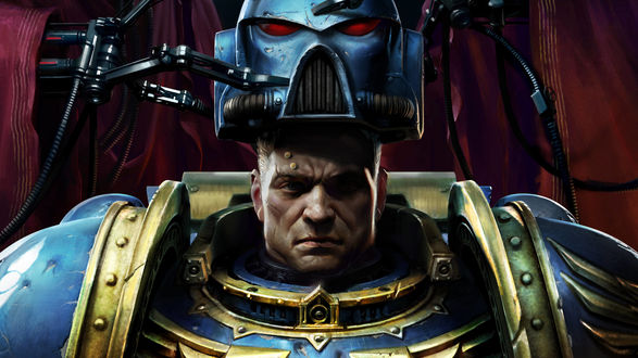 Обои Персонаж из игры Warhammer 40, 000: Space Marine