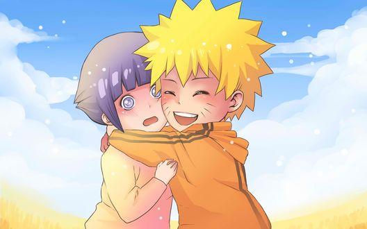 Обои Наруто и Hinata Hyuga / Хината Хьюга в детстве из аниме Наруто / Naruto