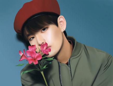 Обои Ви / V / Ким Тэ Хен / Kim Tae Hyung-участник южно-корейской группы BTS / BangTan Boys / Bulletproof Boy Scouts, by Yunhosbambi
