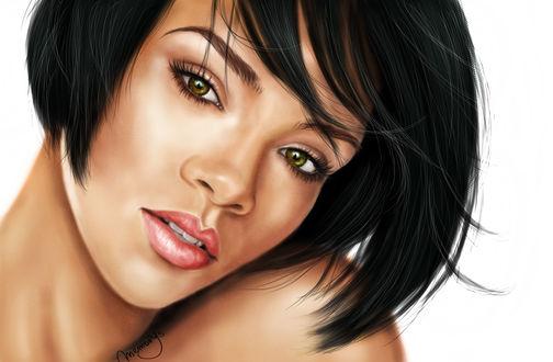 Обои Американская по-певица и актриса Рианна Фенти / Rihanna Fenty, by MemorYsto