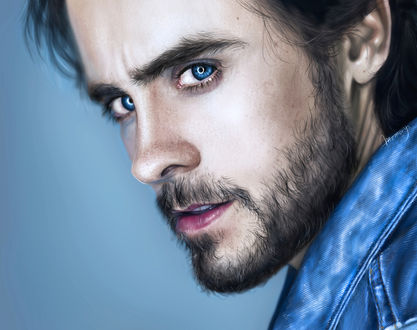 Обои Американский рок-музыкант и актер Джаред Лето / Jared Leto, by MemorYsto