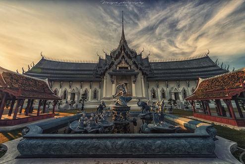 Обои Королевский дворец Sanphet Prasat / Санпхет Прасат, Таиланд, фотограф Manjik photography