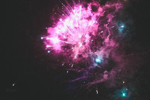 Обои Фейерверк в ночном небе, by Ellieeh