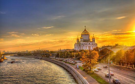 Обои для рабочего стола Храм Христа Спасителя в Москве, Россия (© JeremeVoods),Добавлено: 12.09.2017 05:08:17