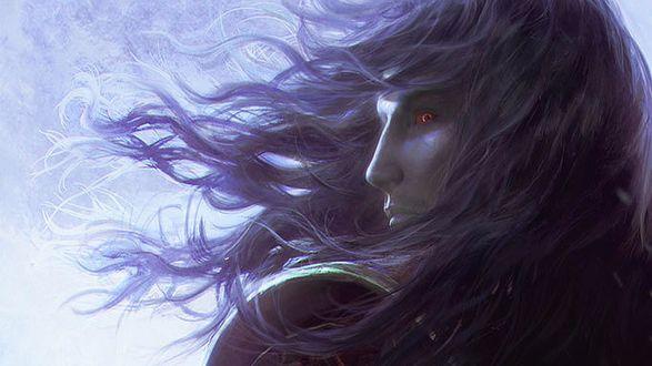 Обои Вампир из игры Castlevania с красными глазами