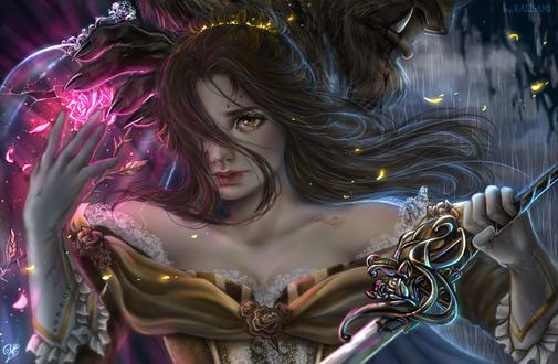 Обои Belle / Белль и чудовище из мультфильма Belles Magical World / Волшебный мир Бель, by kalisami
