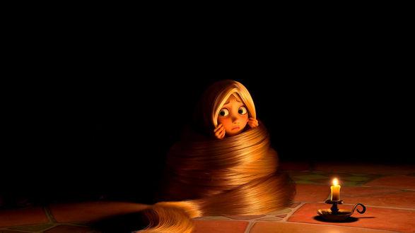 Обои Маленькая принцесса Рапунцель, мультфильм Рапунцель: Запутанная история / Tangled
