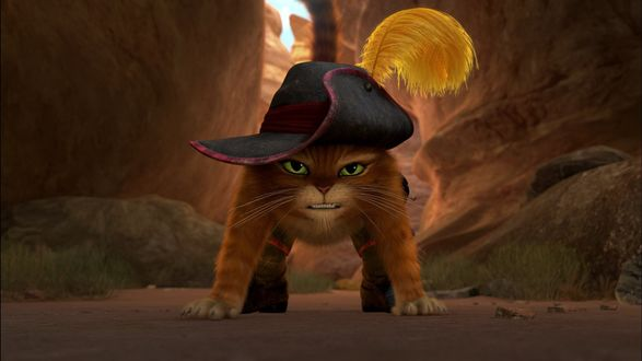 Обои Кот в шляпе, мультфильм Диснея Кот в сапогах