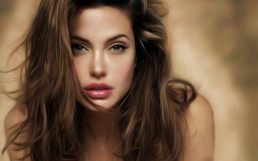 Обои Шикарная Angelina Jolie / Анжелина Джоли