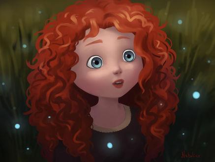 Обои Принцесса Merida / Мерида из мультфильма Brave / Храбрая сердцем, by natalico