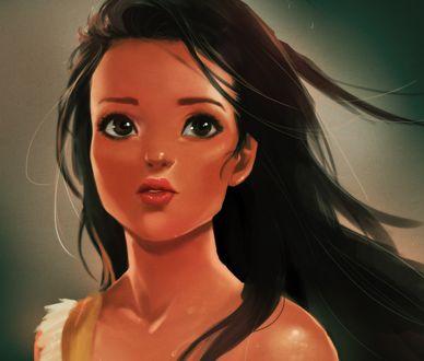 Обои Pocahontas / Покахонтас / Pocahontas из мультфильма Pocahontas / Покахонтас