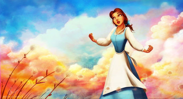 Обои Belle / Белль из мультфильма Beauty and the Beast / Красавица и чудовище, by glimpen