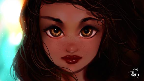 Обои Moana Waialiki / Моана Ваялики из мультфильма Moana / Моана, by ryky