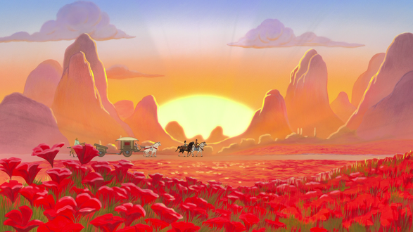 Обои Mulan / Мулан и офицер Li Shang / Ли Шанг на пути к хинди, мультик Walt Disney / Уолта Диснея Mulan / Мулан