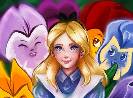Обои Alisa / Алиса из мультфильма Alice in Wonderland / Алиса в стране чудес, by Kachumi
