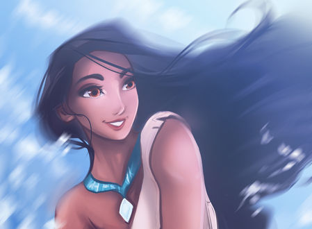 Обои Pocahontas / Покахонтас из мультфильма Pocahontas / Покахонтас, by Kachumi