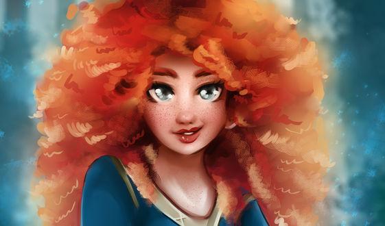 Обои Принцесса Merida / Мерида из мультфильма Brave / Храбрая сердцем, by Kachumi