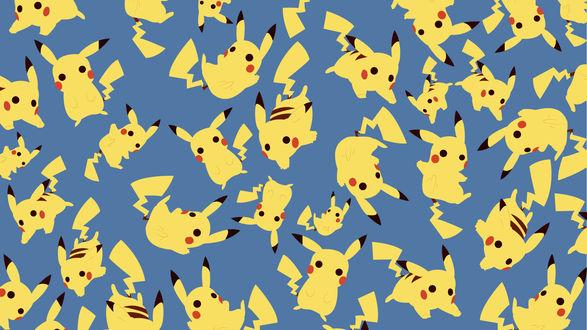 Обои Множество Pikachu / Пикачу из аниме Покемон / Pokemon, by SomeElixer