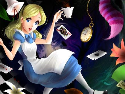Обои Диснеевская Alice In Wonderland / Алиса в стране чудес, by Flannel-kun