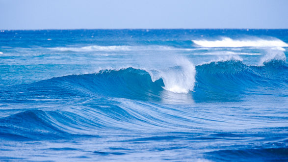 Обои Гребни морских волн