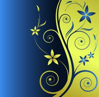 Обои Вектор цветочные узоры
