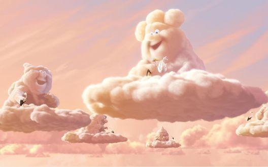 Обои Облачные персонажи мультфильма