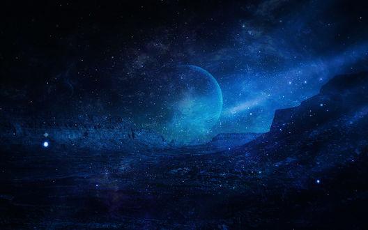 Обои Горы в космосе