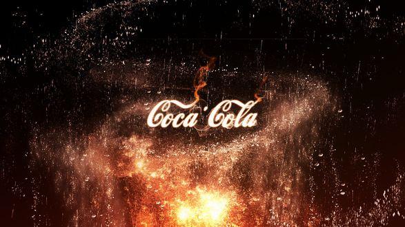 Обои Надпись Coca-Cola / Кока-кола, by Y_Y