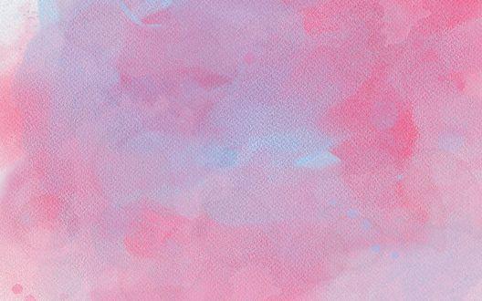 Обои Розовый и голубой оттенок акварели на бумаге