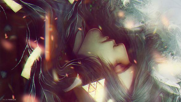 Обои Парень спит объятый дымом by Tincek Marincek