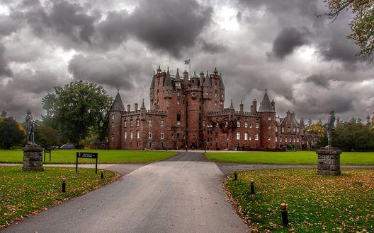 Обои Дорога к Glamis Castle / замку Глэмис, Scotland / Шотландия