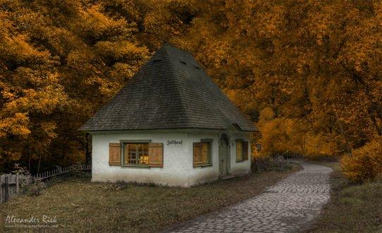 Обои Старая таможня, называемая «Zollhaus» в Black Forest, Germany / Шварцвальде, Германия, фотограф Alexander Riek