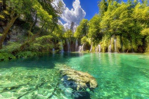 Обои Национальный парк Plitvice Lakes / Плитвицкие озера в Croatia / Хорватии, фотограф Beno Saradzic