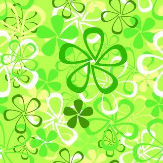 Обои Зеленый цветочный вектор